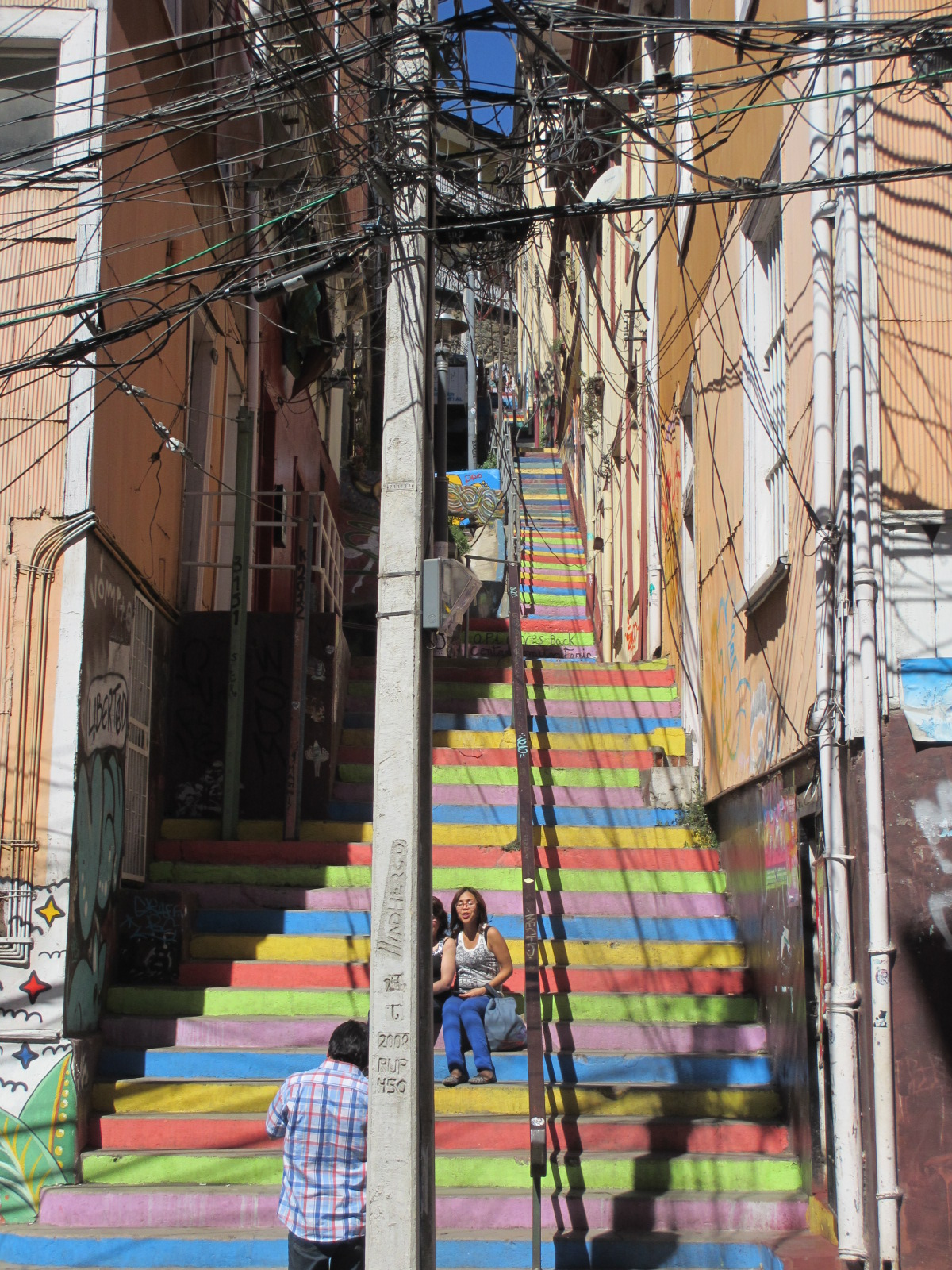 chile valparaiso urban steps