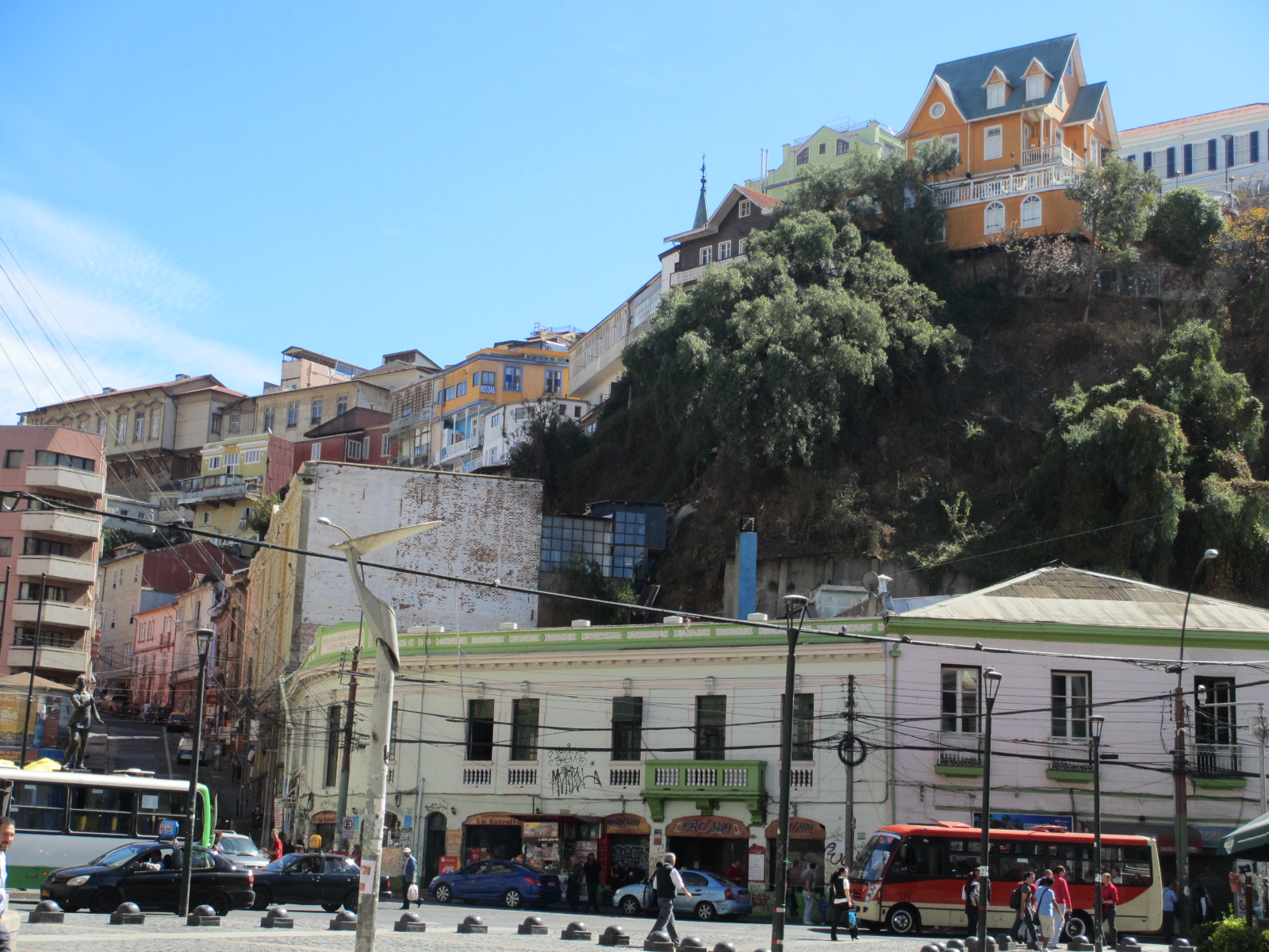 chile valparaiso historic square