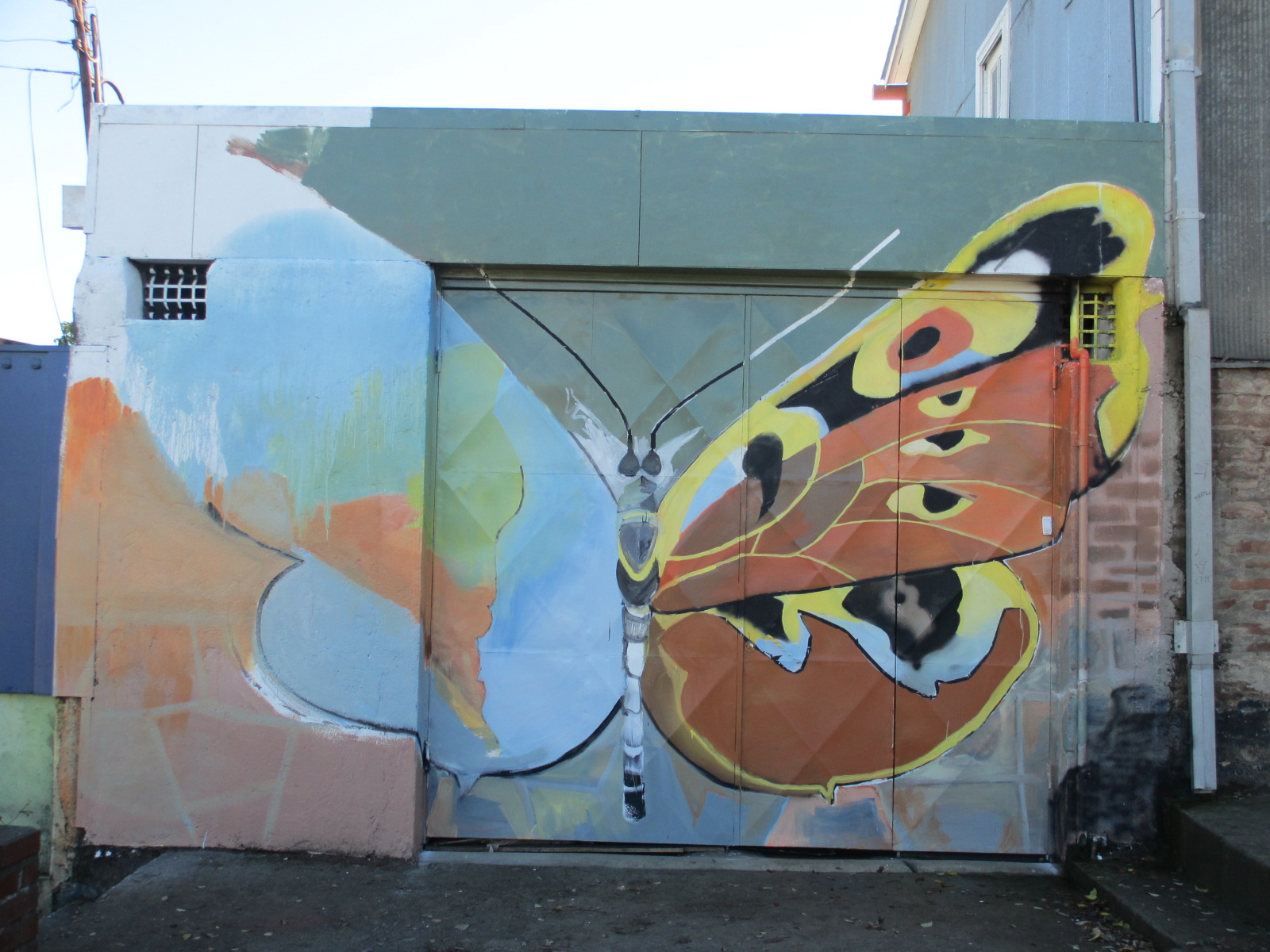 butterfly mural at quinta escondida chile